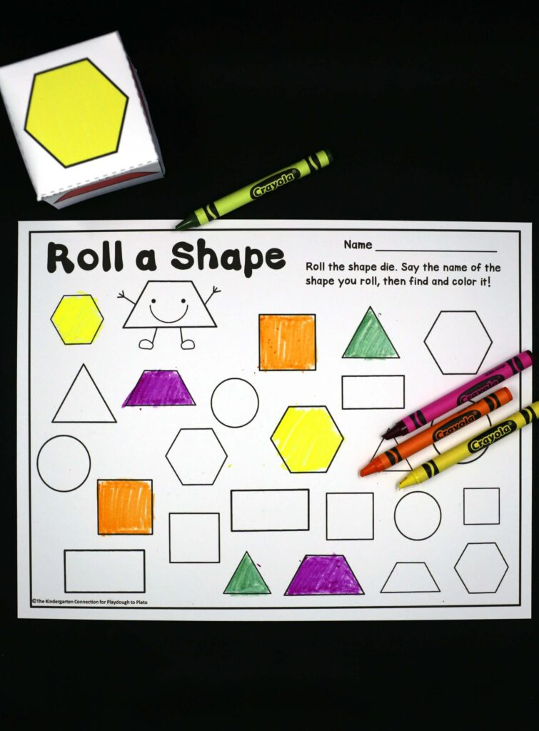 Roll And Color Shapes Playdough To Plato