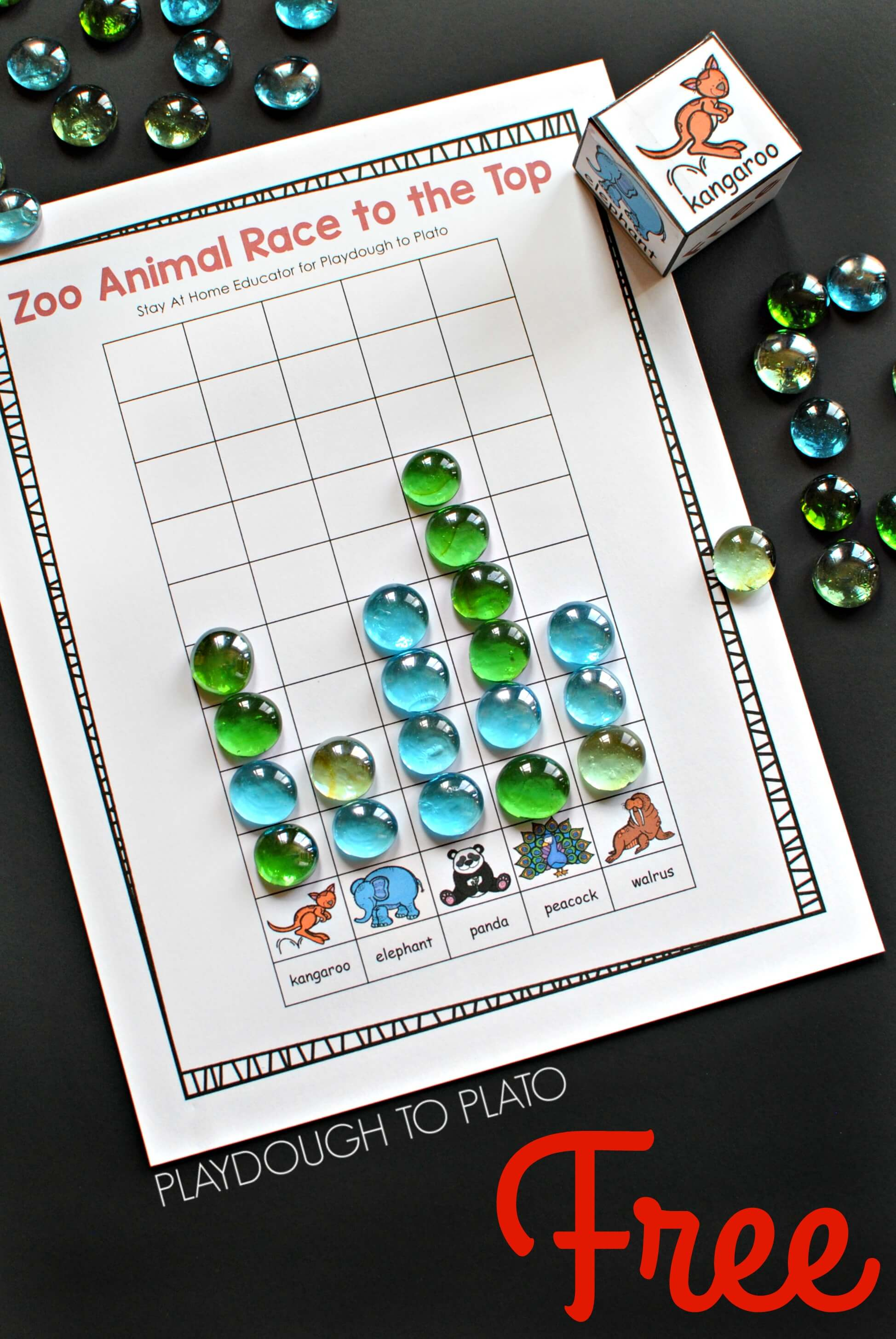 Zoo Animal Game Race To The Top Counting