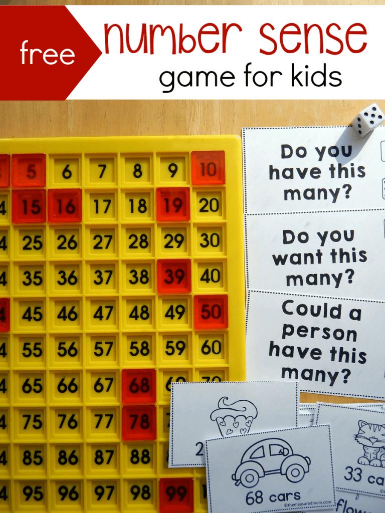 number sense game for kids