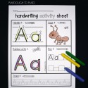 A is for ant and more handwriting activity sheets