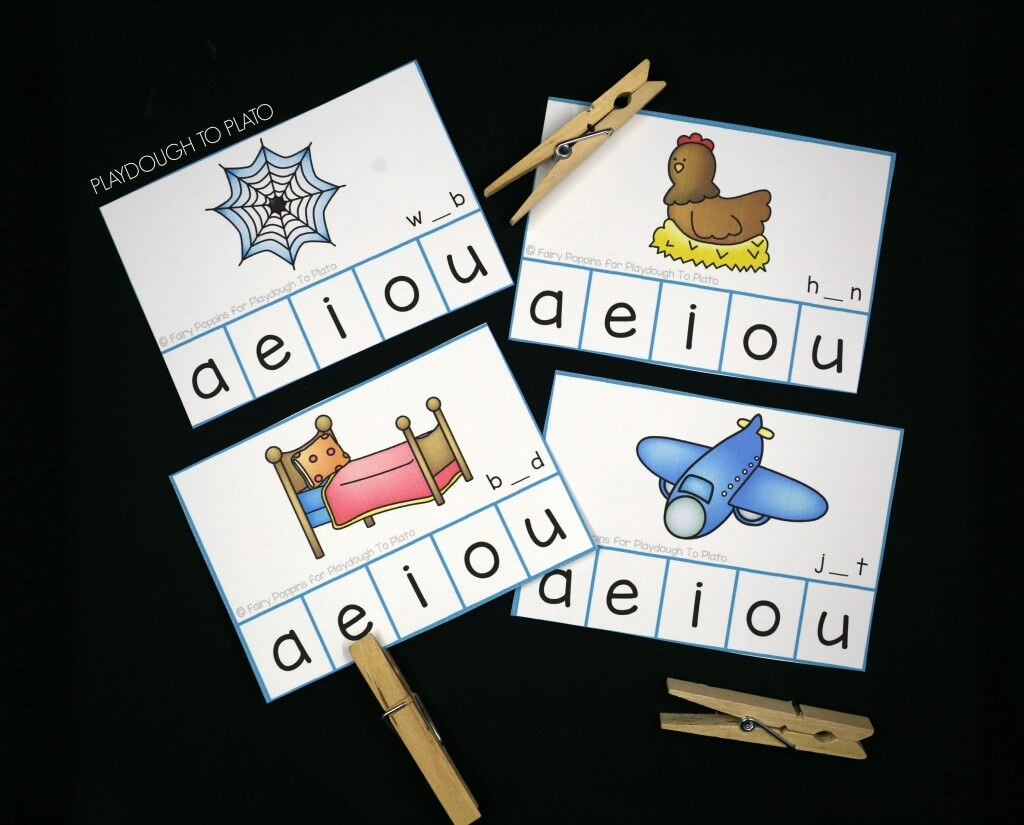 Awesome Vowel Sound Clip Cards for New Readers!