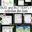 Awesome bug and butterfly activities for kids! Perfect for an insect unit or bug theme.
