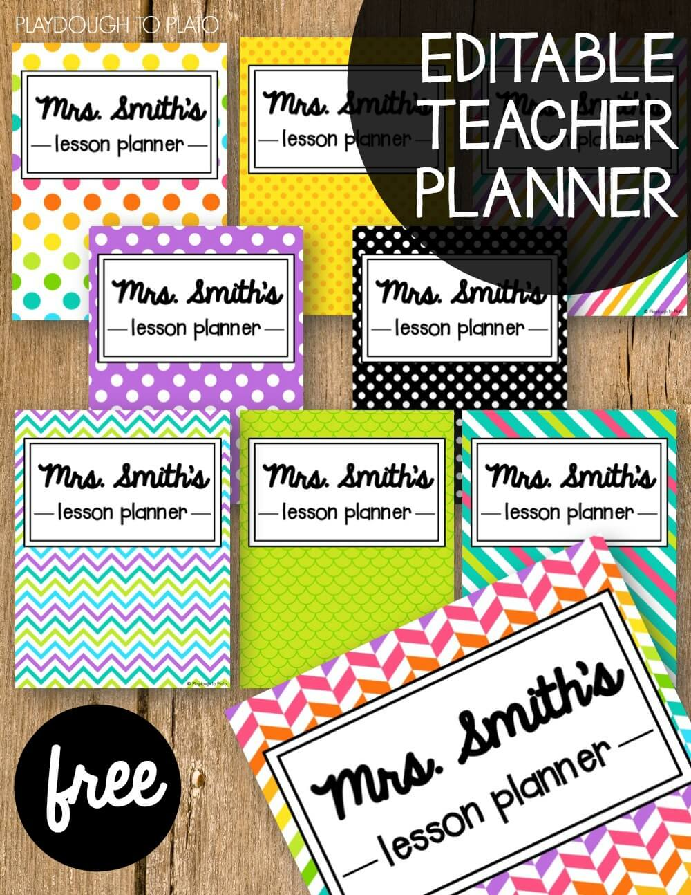 photograph about Free Printable Teacher Planner known as Free of charge Instructor Planner - Playdough Towards Plato