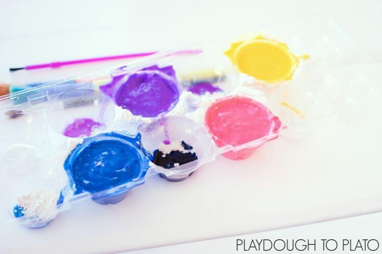 Fizzy flour paint recipe