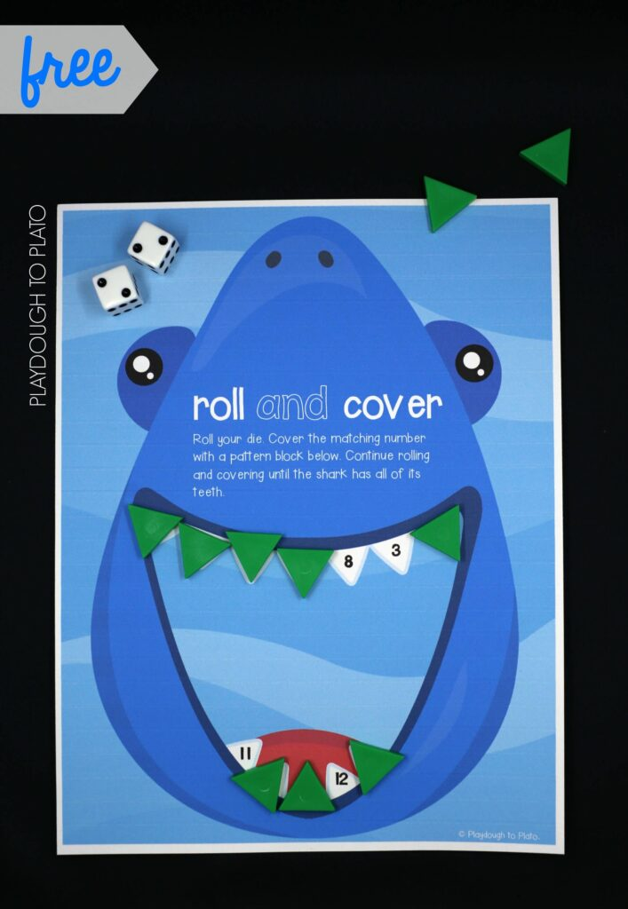 Roll and cover shark game!