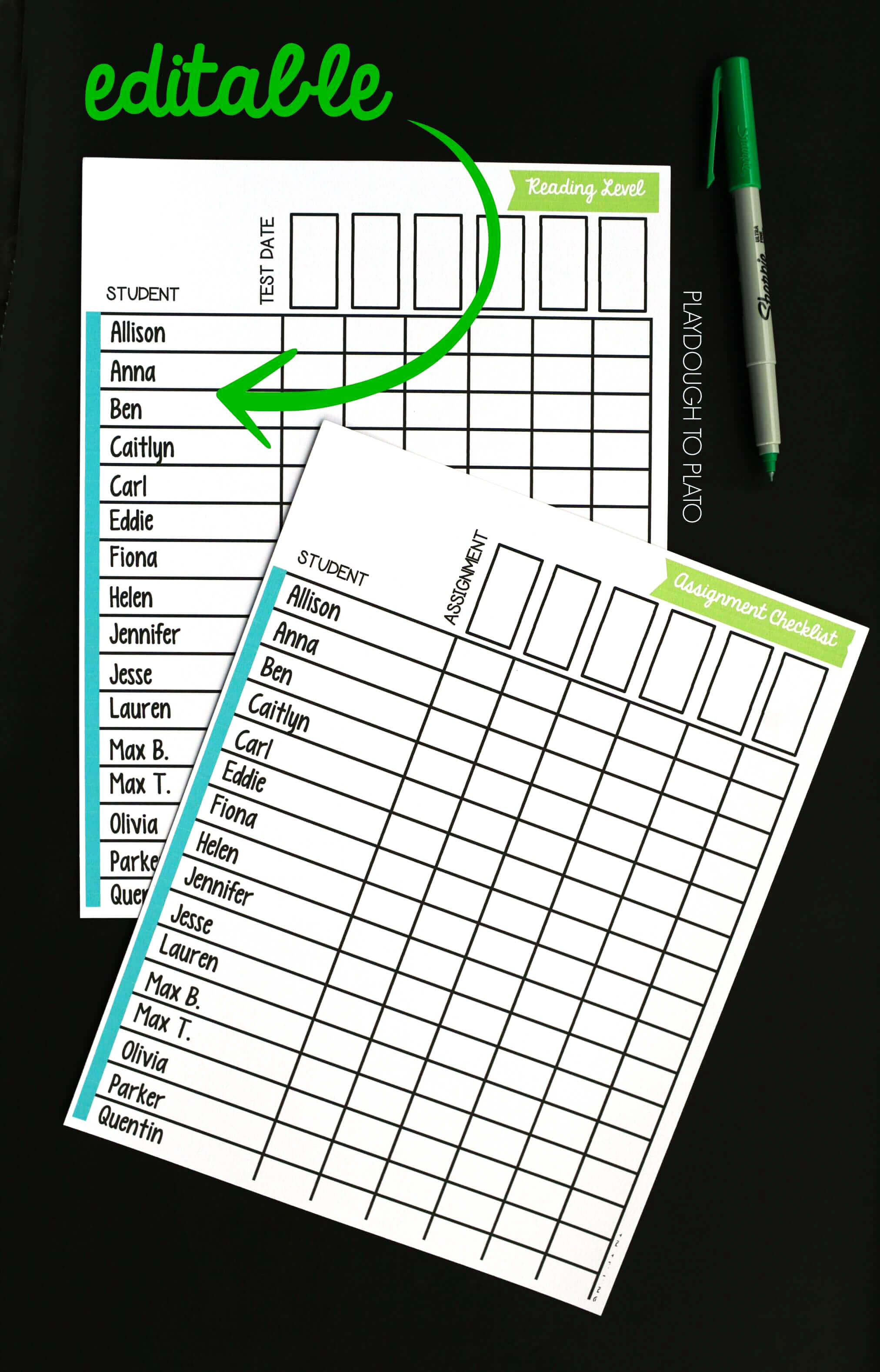 photograph about Free Printable Teacher Planner referred to as Free of charge Instructor Planner - Playdough Toward Plato