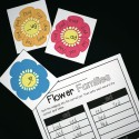Use the write and wipe flowers to practice 12 word families.