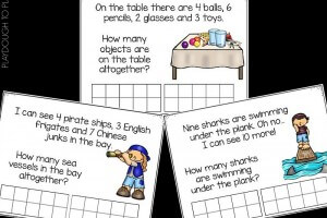 Free word problem task cards with ten frames to practice word problems!