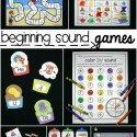 Beginning Sound Games! Lots of fun beginning sound activities and literacy centers.