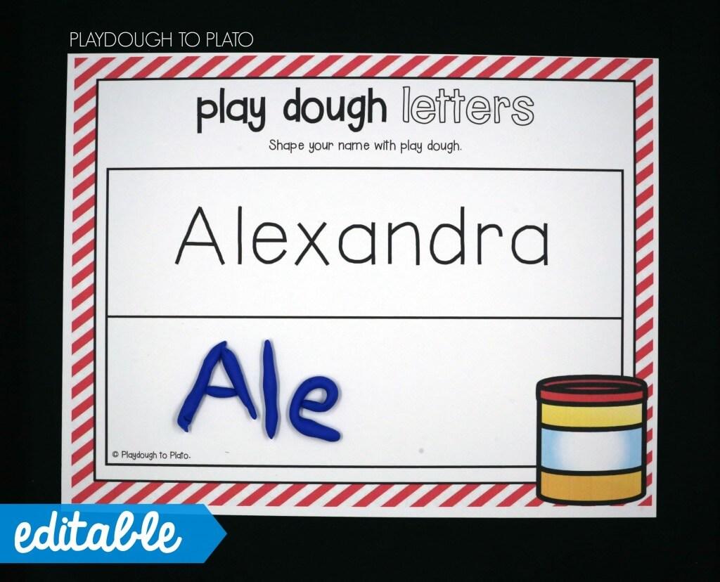 Editable Name Games Playdough To Plato