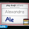 Build names on editable playdough mats.