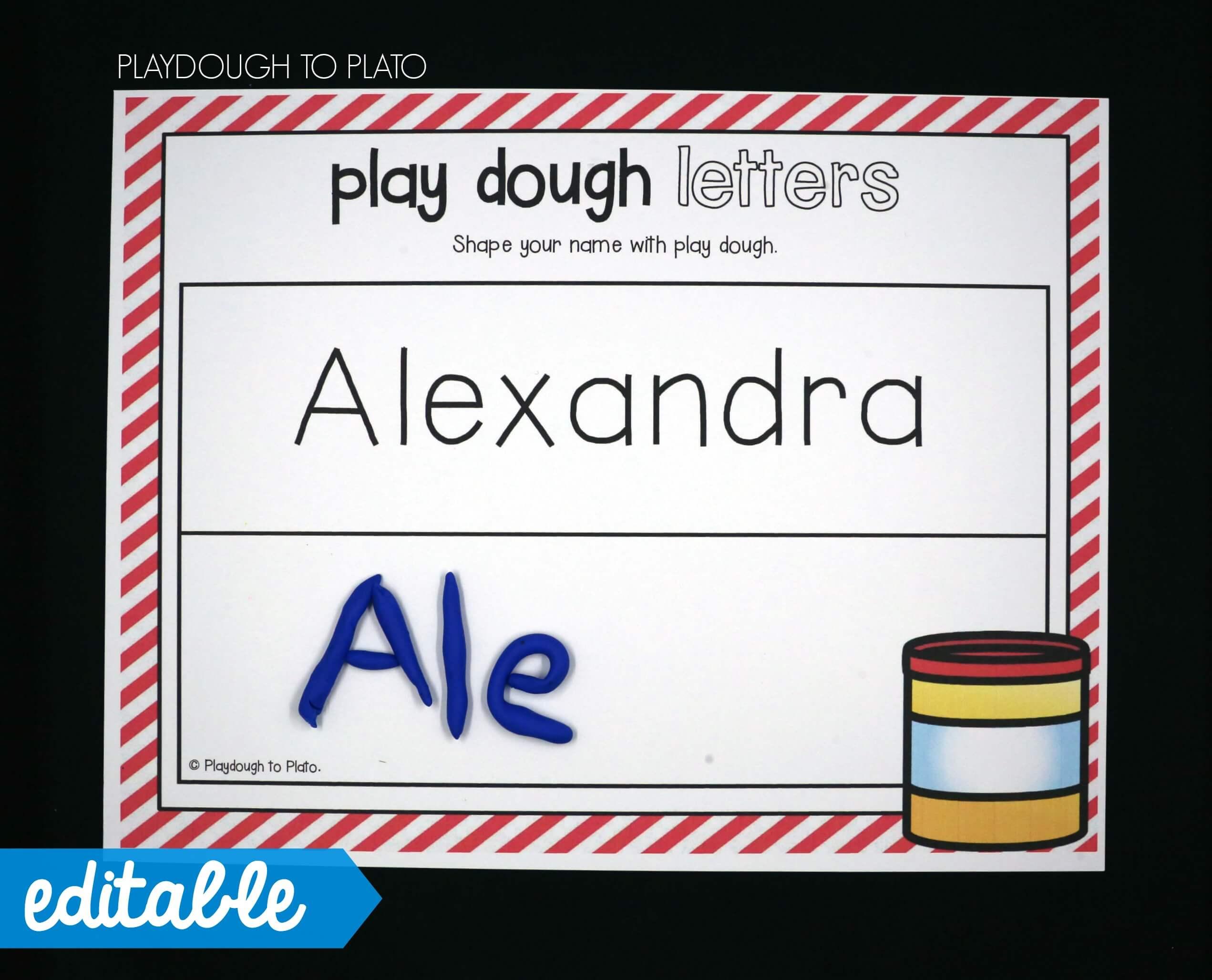 EDITABLE Name Games - Playdough To Plato
