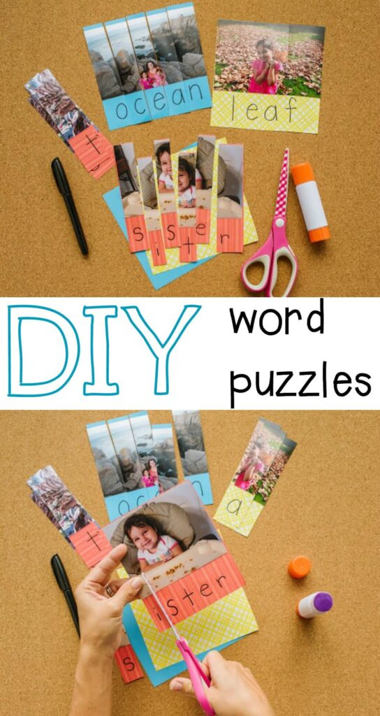 DIY word puzzles for kids!