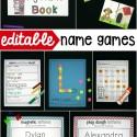 Editable name games! Perfect for preschool or kindergarten.
