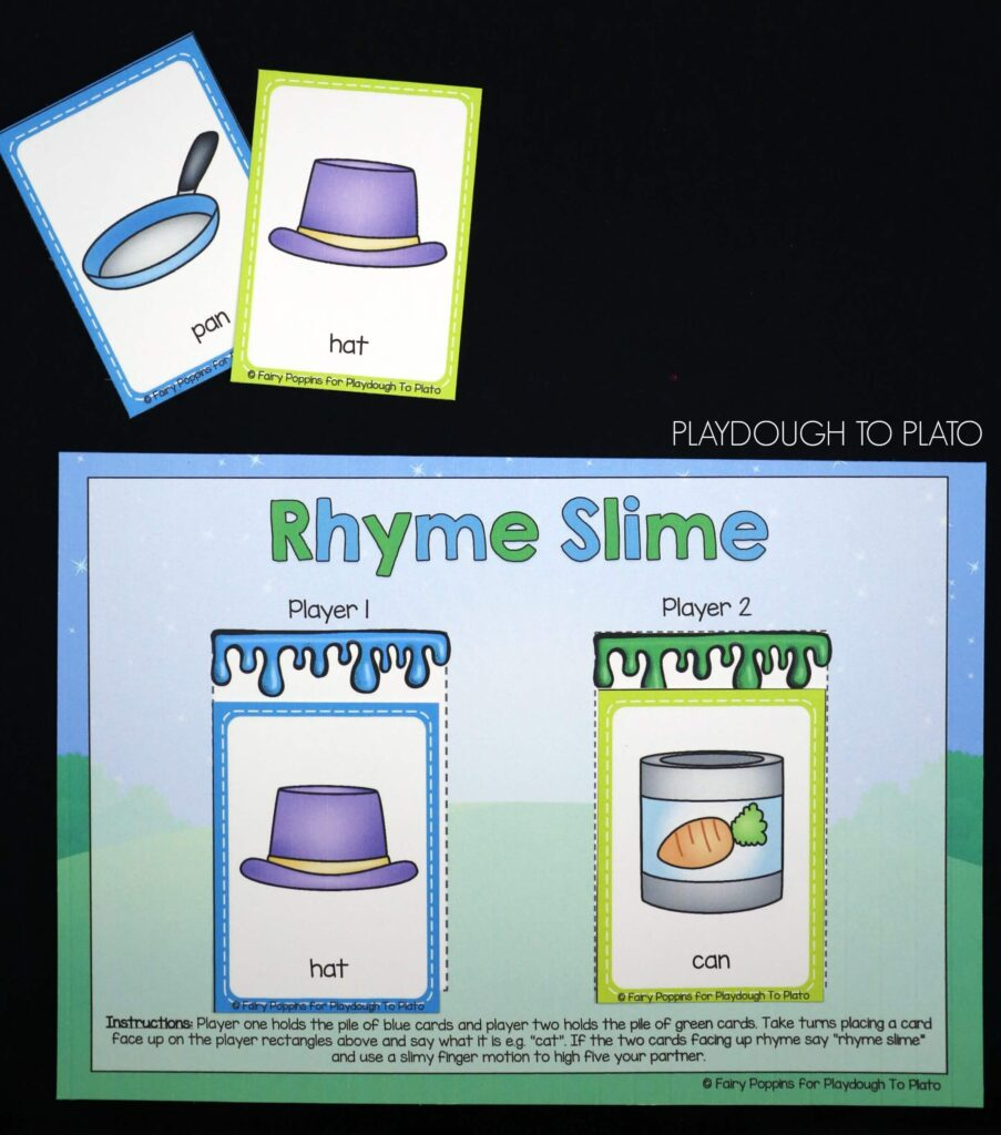 Free rhyming game! Perfect for preschool or early kindergarten.