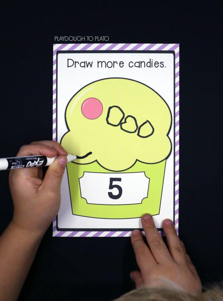 Fun write and wipe ice cream cards!