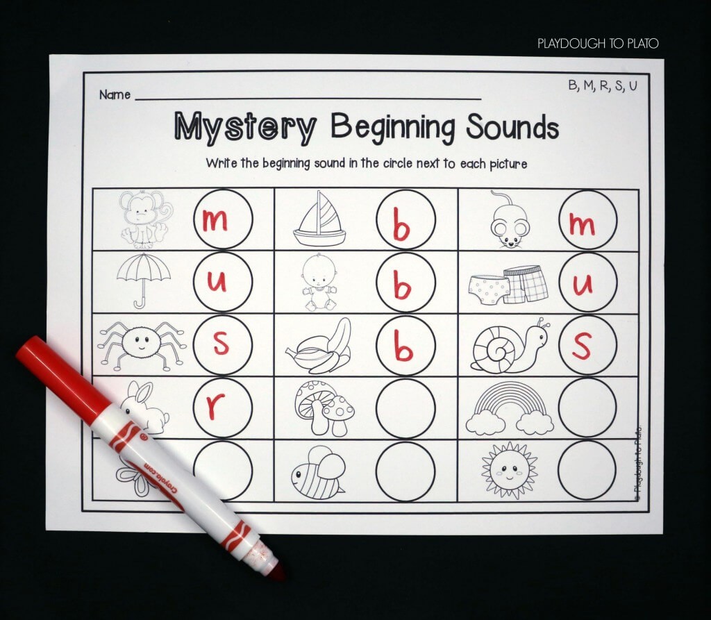 Solve mystery beginning sounds