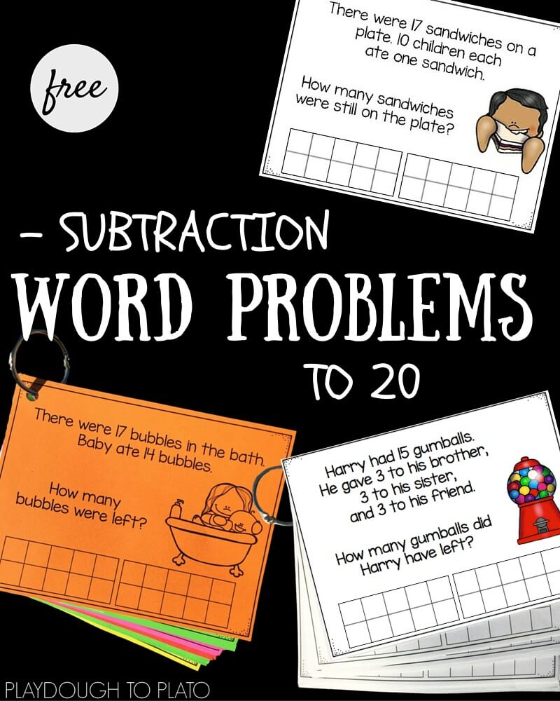 Subtraction Word Problems to 20!