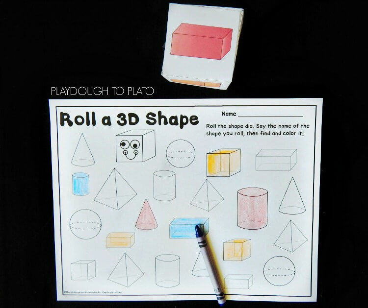 roll a 3d shape 2