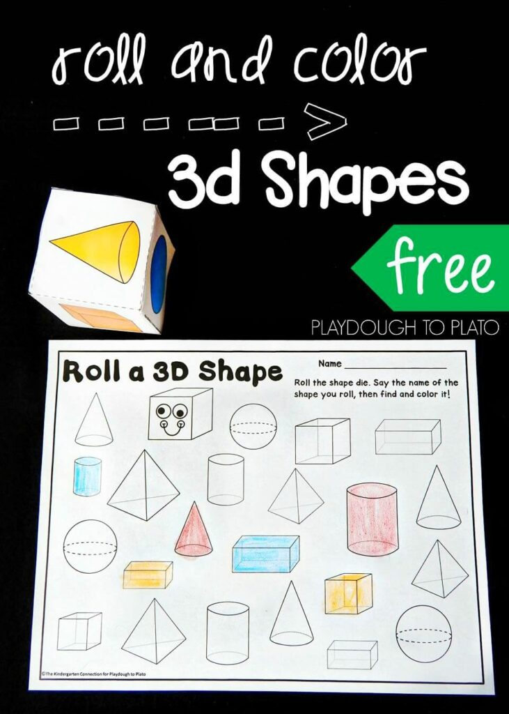 Roll And Color 3d Shapes Playdough To Plato