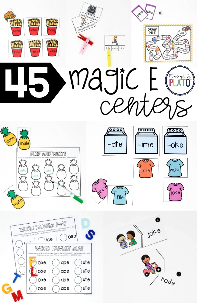 45 Motivating Magic E Centers