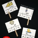 45 digraph clip cards