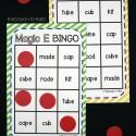 A class set of Magic E Bingo!