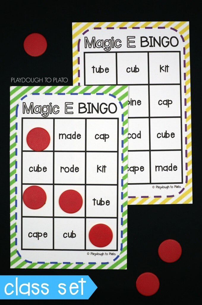 A class set of Magic E Bingo!