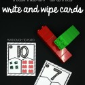 Awesome LEGO number bond write and wipe cards. Build the bond and then solve the missing number. So fun!