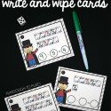 Awesome magic subtraction write and wipe cards