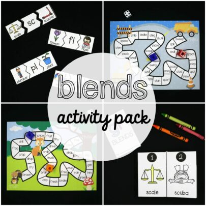 Blends Activity Pack for Kids
