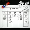 Clip and sort digraph pictures into the correct spot