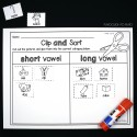 Clip and sort short and long vowels