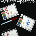 Fun bubble gum addition write and wipe cards.