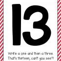Fun rhymes to help kids learn how to write teen numbers