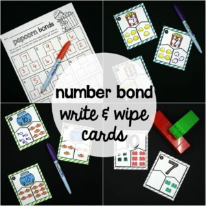 Number Bond Write and Wipe Cards