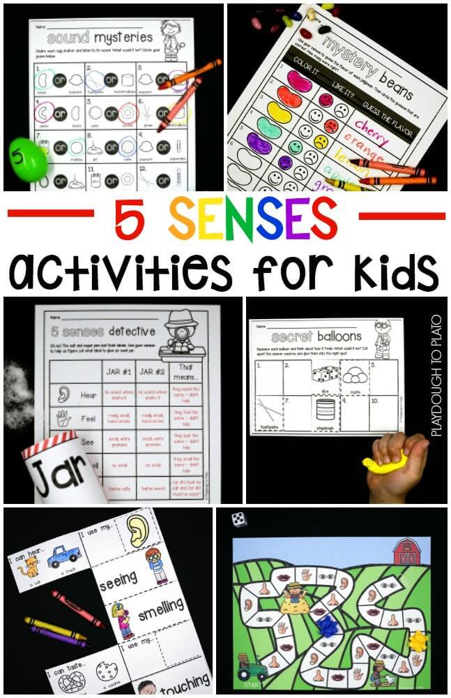 5 Senses Activities for Kids!