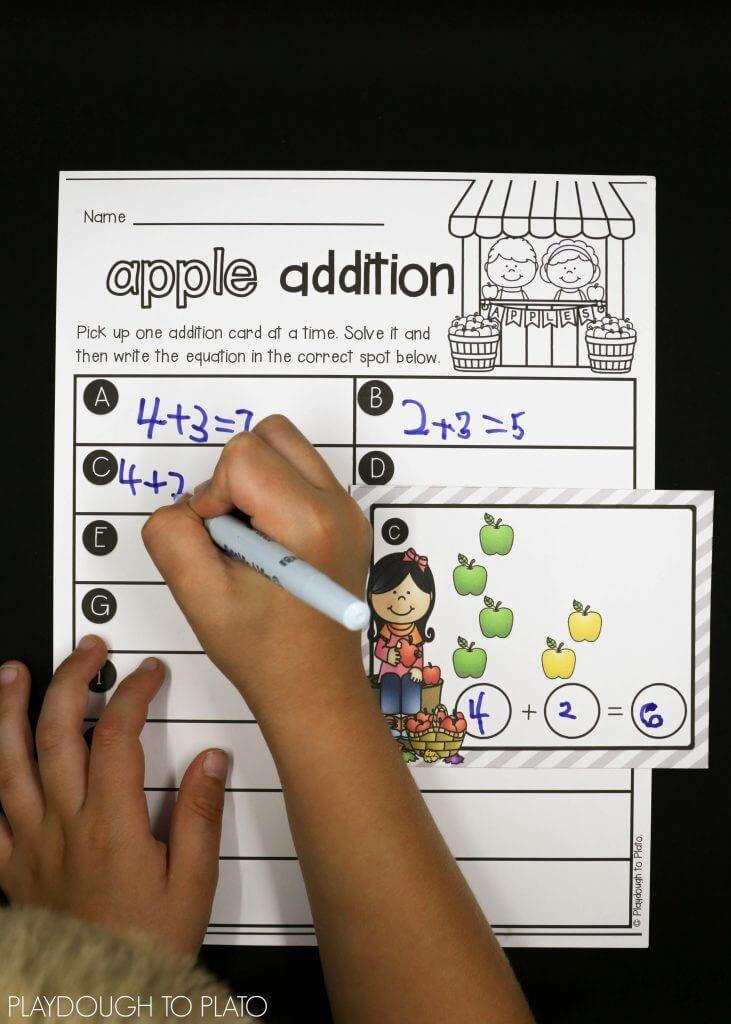 Apple Addition Math Activity