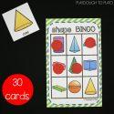 Class set of 3D Shape Bingo