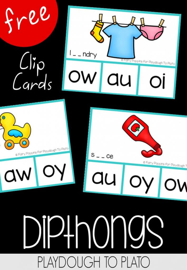 Dipthong Clip Cards Freebie