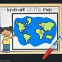 Mark the Landmarks on the Map