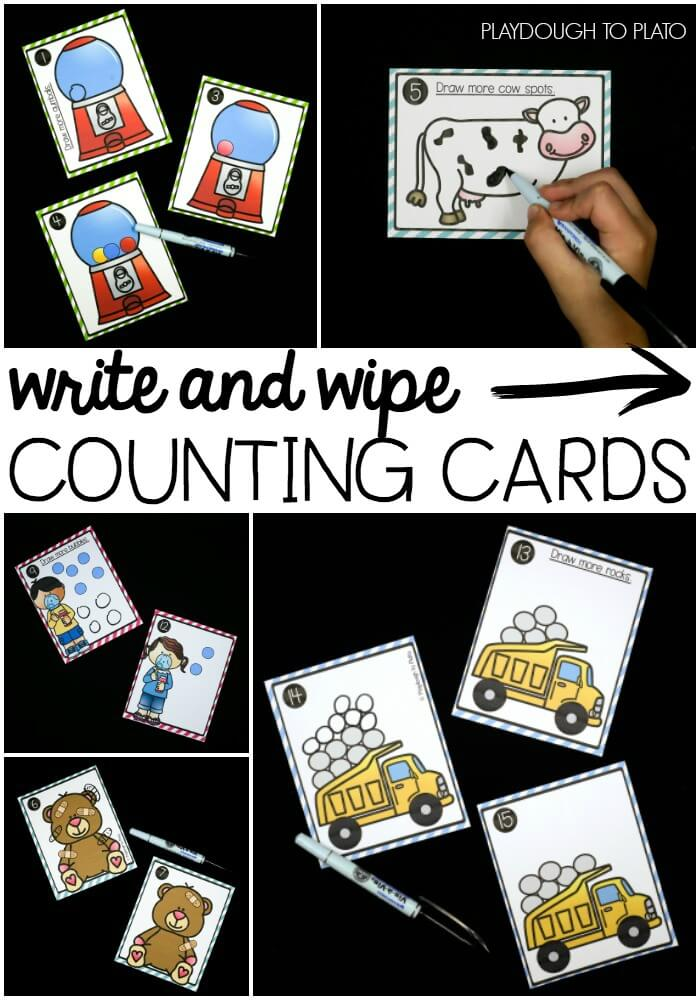 Write and Wipe Counting Cards!