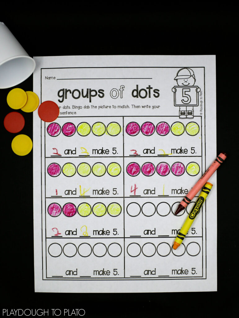 Number Decomposition Activities (1 of 3)