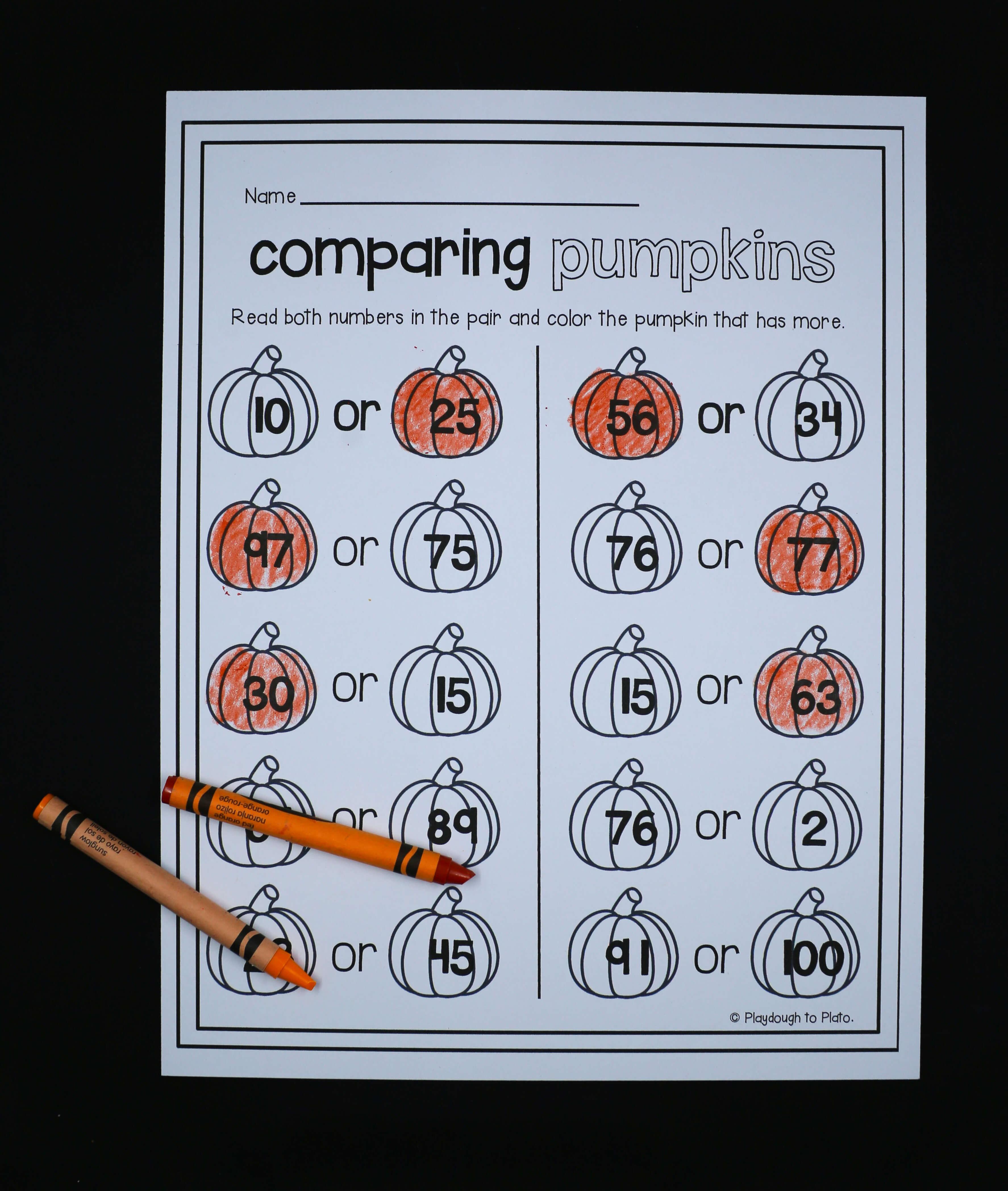 - First Grade Pumpkin Activities - Playdough To Plato