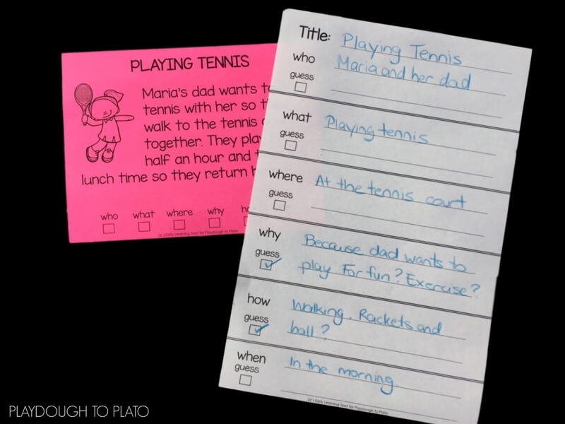 Close Reading Activity Cards