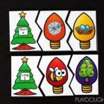 Christmas Lights Vowel Sort