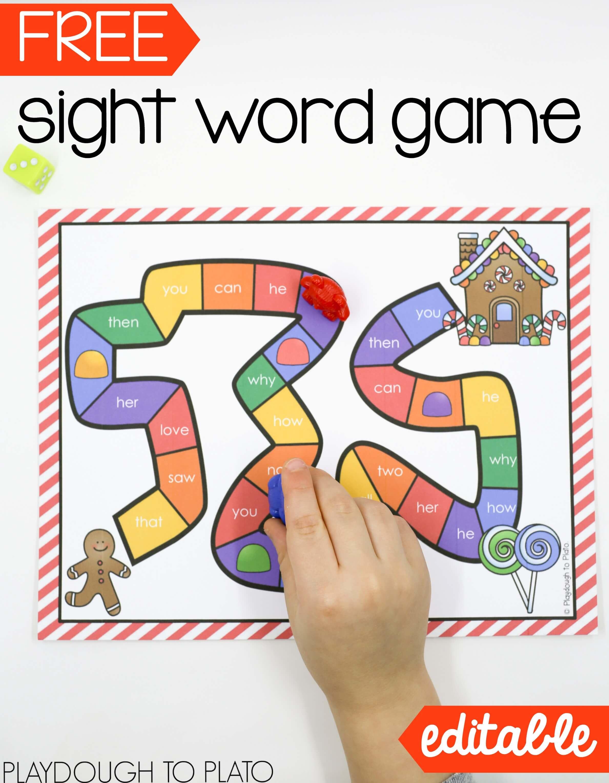 Free Printable Kindergarten Sight Word Activities