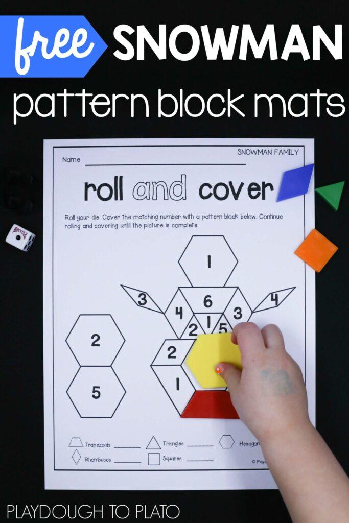 brilliant-snowman-pattern-block-mats