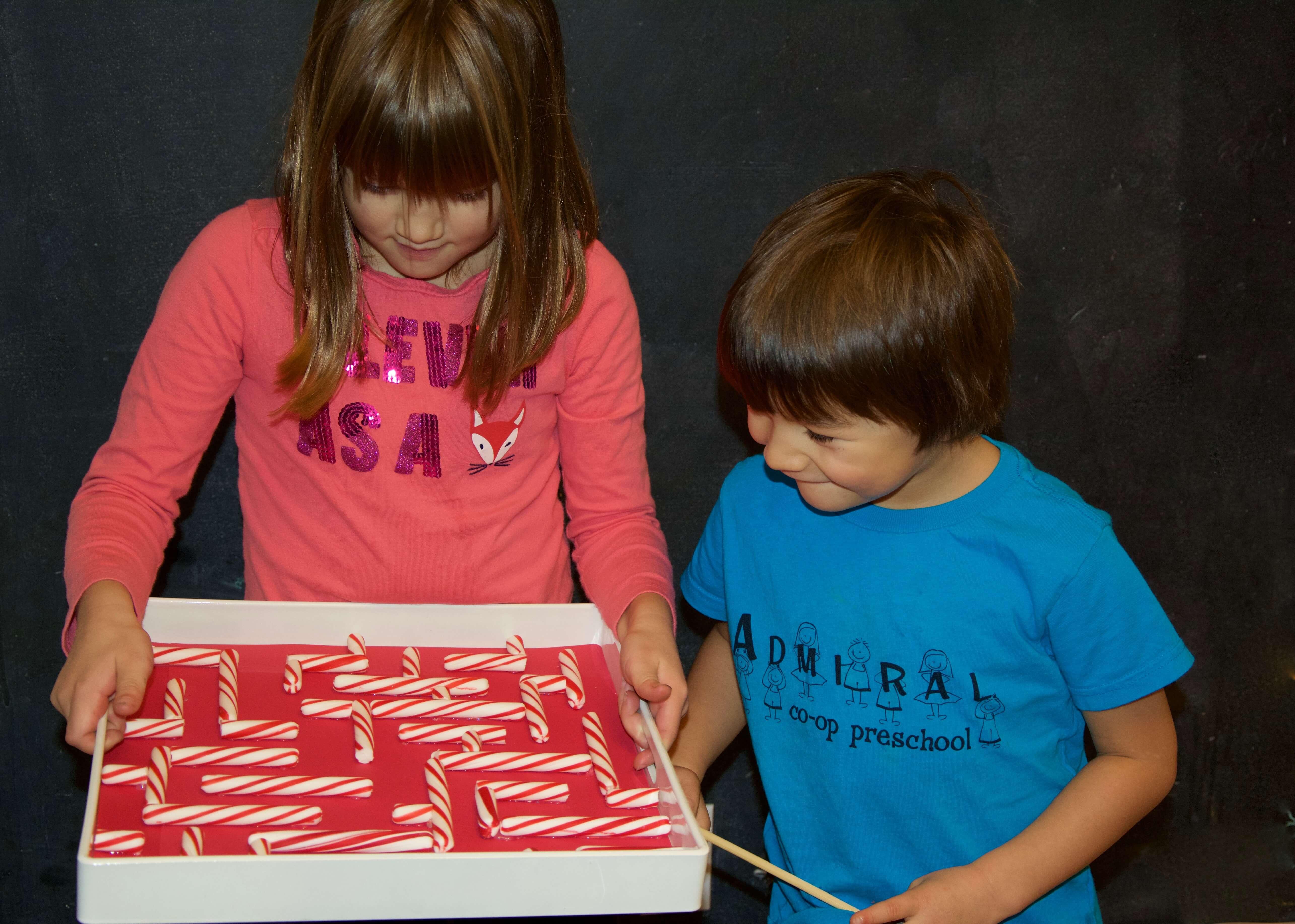 Candy Cane Marble Maze - Playdough To Plato