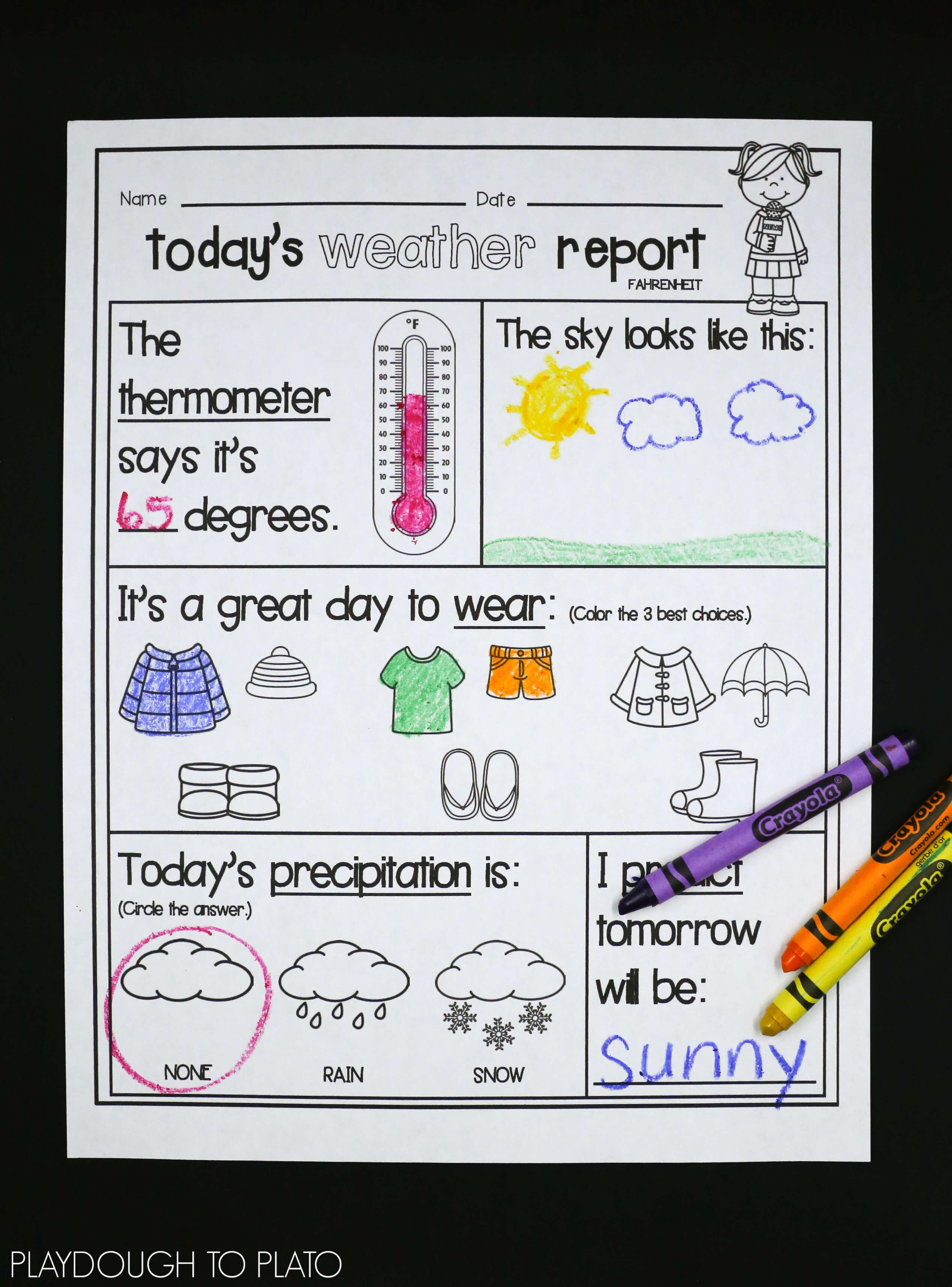 Weather Activities Kids Love - Playdough To Plato